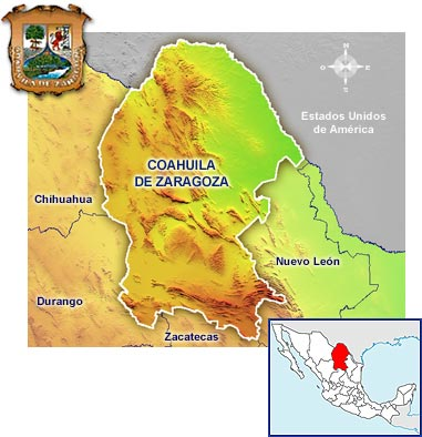 coahuila con municipios: